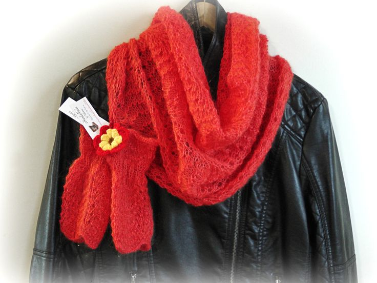 Hand knitted mohair  snood and  mittens/Snood/Snood set/Mohair mittens and snood by GrandmasOldBox on Etsy