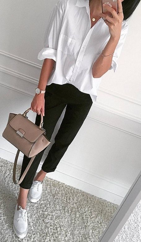 button shirt black pants