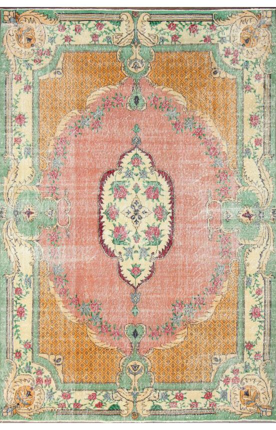 Overdye ACC645 Orange Rug | Traditional Rugs