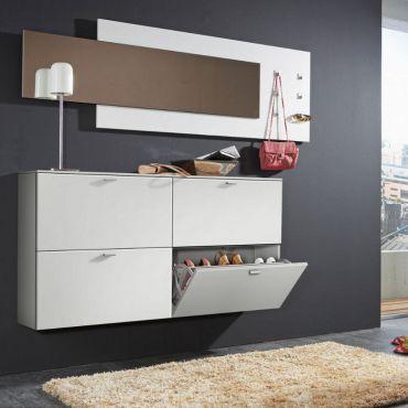 Schoenenkast Gallery - 4-deurs wit