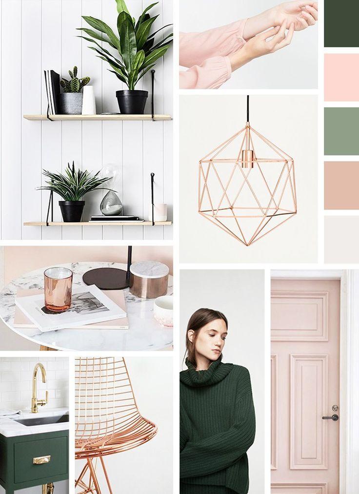 Green And Blush Mood Board For The Holidays Mood Board Interior