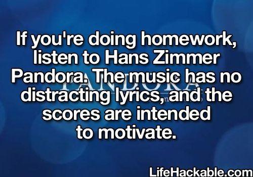 music/studying