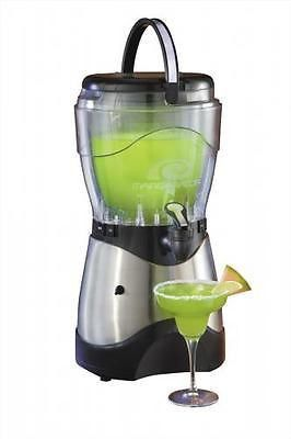 The Nostalgia Electrics™ HSB590 Stainless Steel Margarita & Slush Machine is a frozen drink machine that will add thirst-quenching fun to any occasion! It uses crushed ice or small ice cubes from the