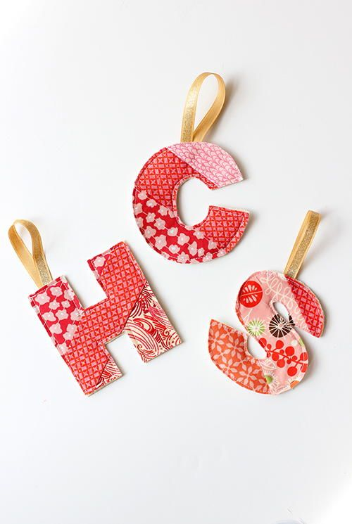 Initial Homemade Ornaments - My mom made ornaments like these for the whole family when I was a kid! Such a cute vintage Christmas idea.