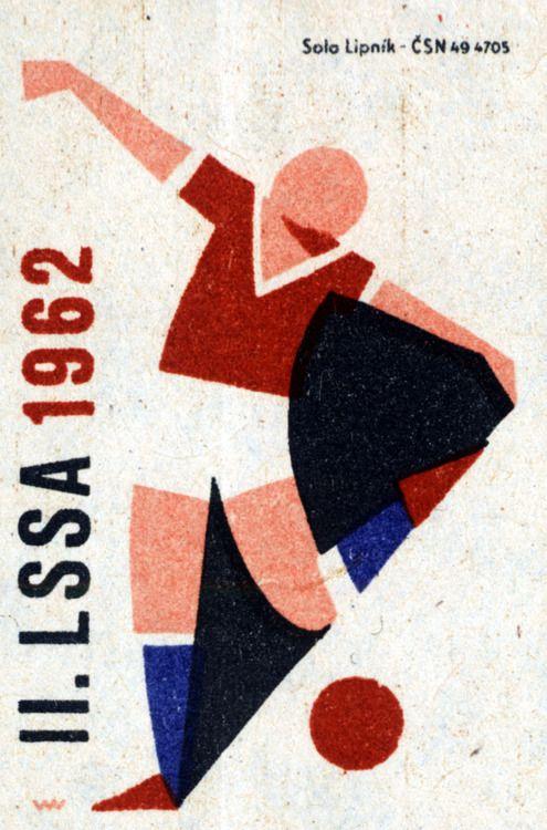 II. LSSA 1962. 5/15. Czechoslovak matchbox label.