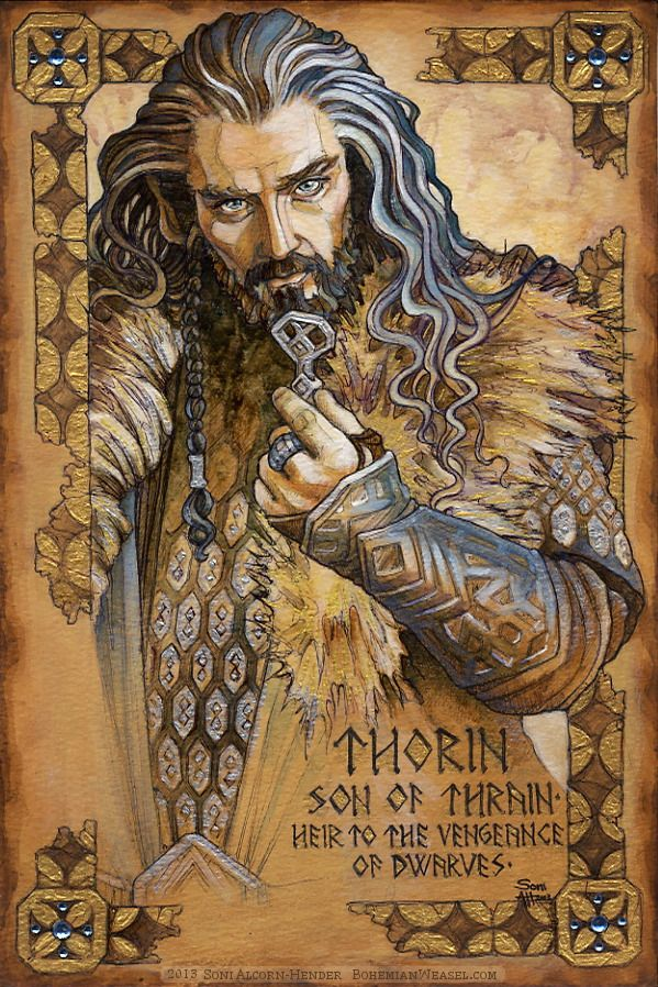 Hobbit Illumination: Thorin Oakenshield (finished!) by Soni Alcorn-Hender