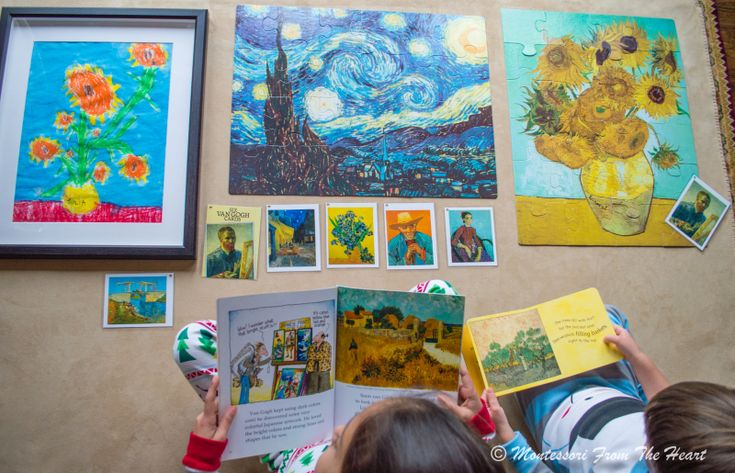 Vincent van Gogh Montessori work
