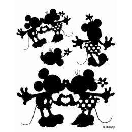 "Disney clear stamps ""Mickey & Minnie 2 the [specify OK: Scrapbooking, tole painting"