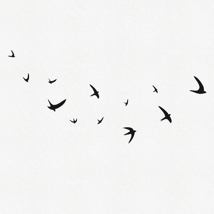 Bird Wall Decal,  Flying Bird Wall Decal, Set of 12 Swallows, Minimal Birds Decal, Vinyl Bird Stickers by MUSTERLADEN on Etsy https://www.etsy.com/listing/69186167/bird-wall-decal-flying-bird-wall-decal