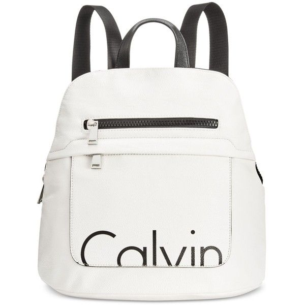 Calvin Klein Small Backpack ($168) ❤ liked on Polyvore featuring bags, backpacks, knapsack bag, pocket backpack, calvin klein bags, tablet bag and rucksack bags