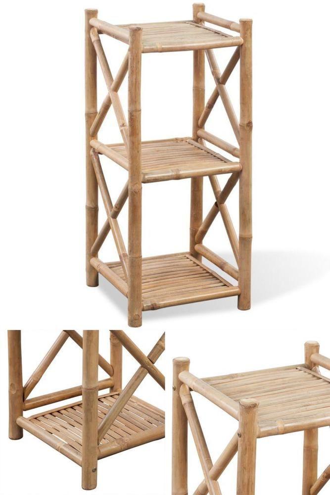 3 Tier Bamboo Shelf Indoor Home Bathroom Bedroom Rack Storage Shelves Stand Unit