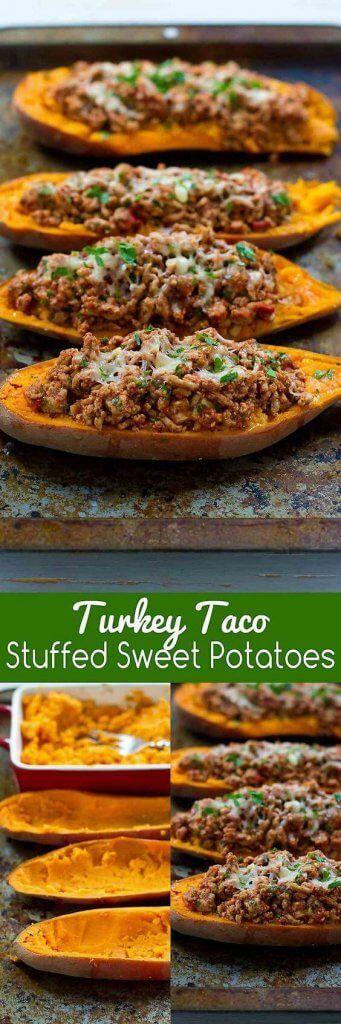 nice Turkey Taco Stuffed Sweet Potatoes