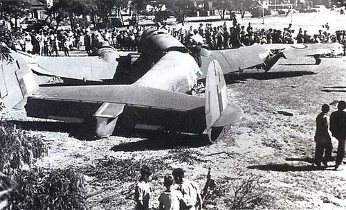 Plane (Ventura) down in  Pinelands. in 1956 - crashed on Julianaveld.