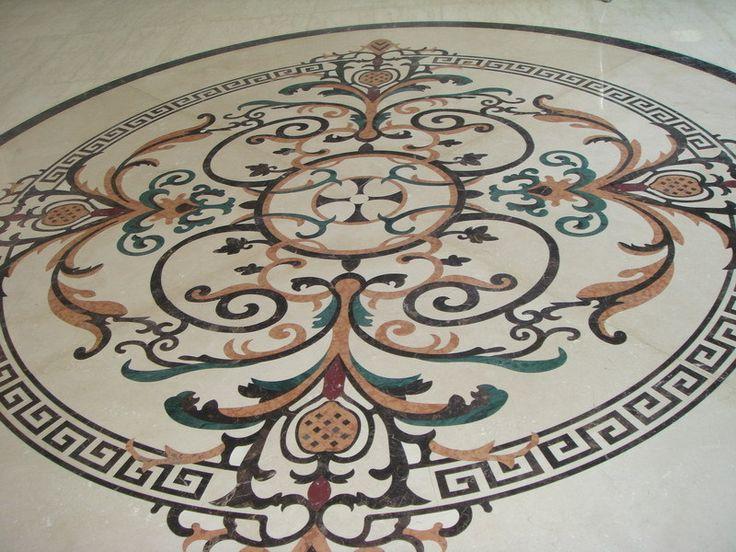 ExoTiles - B1542 Marble Medallion Floor Tiles, Ask for a quote (http://www.exotiles.com.au/b1542-marble-medallion-floor-tiles/)