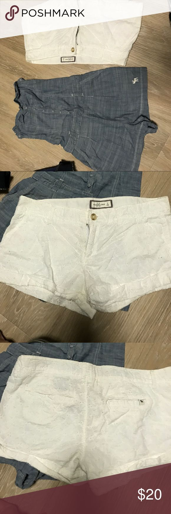 2 for 1 Abercrombie & fitch eyelet shorts & romper Cute shorts and a comfortable and cute romper. Like new Abercrombie & Fitch Shorts Bermudas