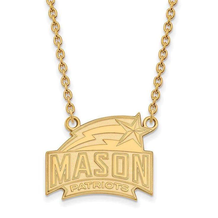 10ky LogoArt George Mason University Large Pendant w/Necklace