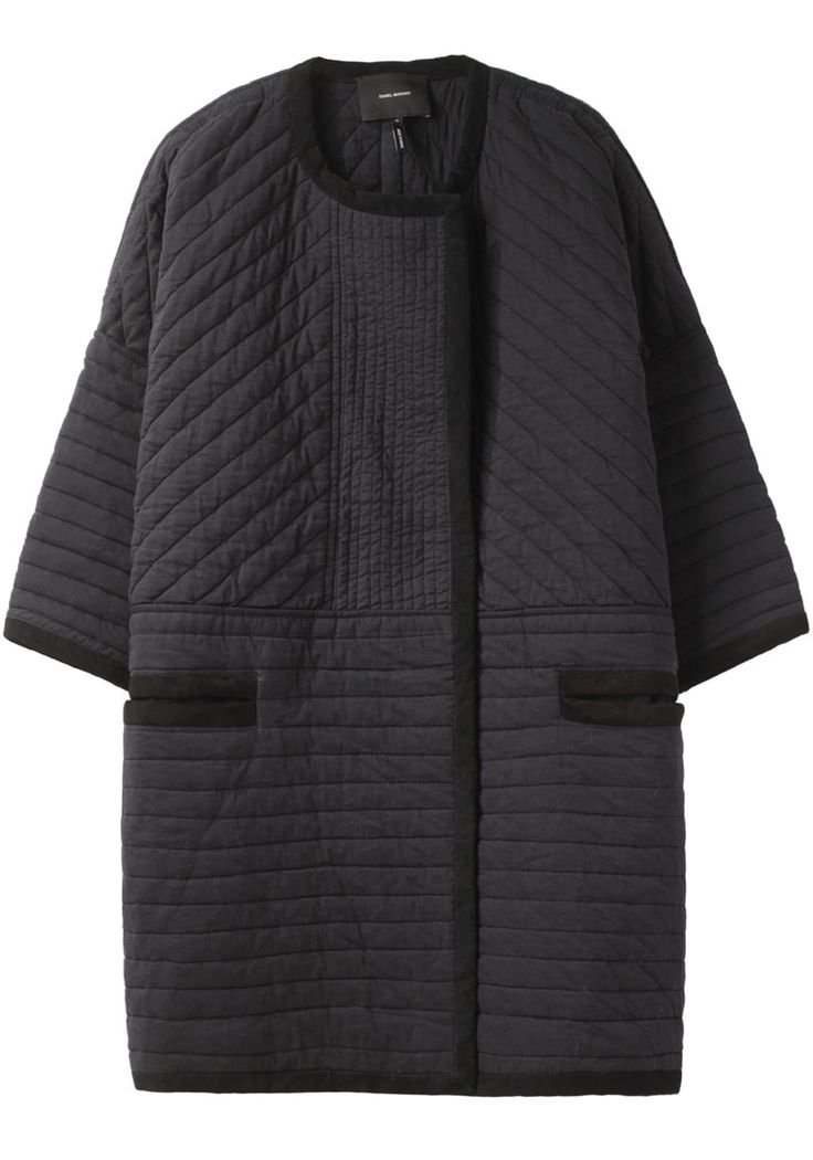 Isabel Marant Quilted Collarless Coat.