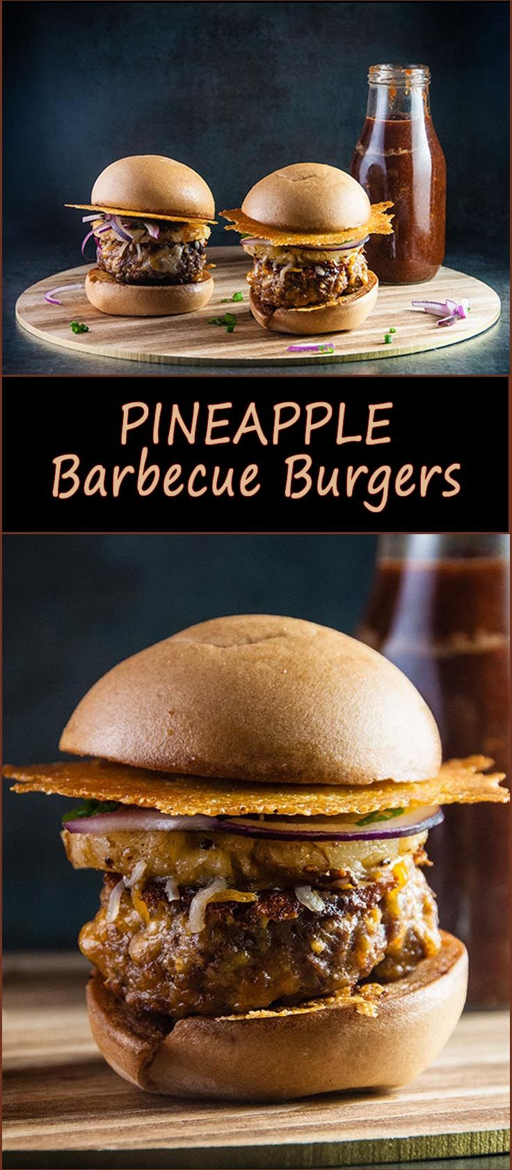 Pineapple Barbecue Burgers from www.SeasonedSprinkles.com