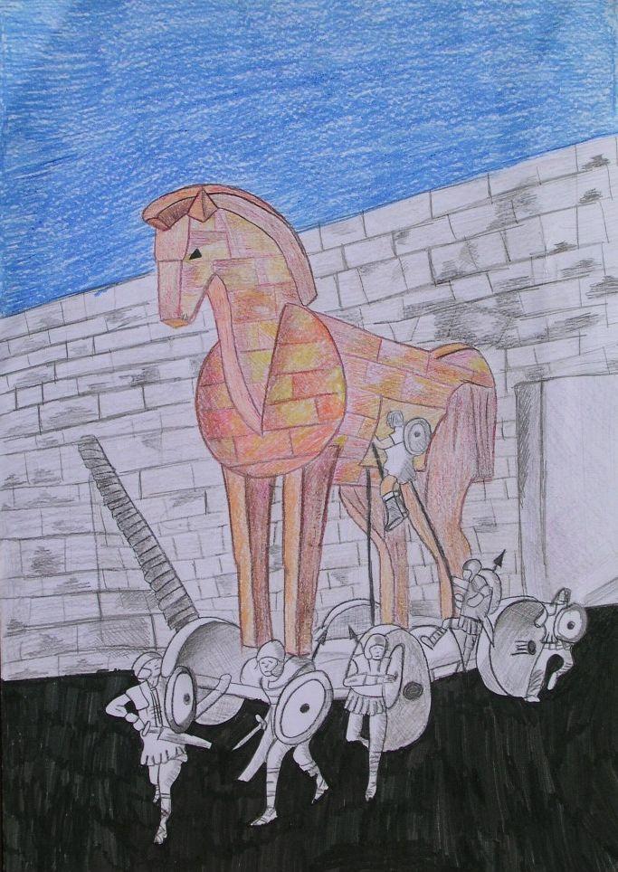 Menzione Speciale nella sua fascia di età della terza edizione: Alessia Consales – 13 anni Scuola Gravitelli - Messina Titolo: Cavallo di Troia