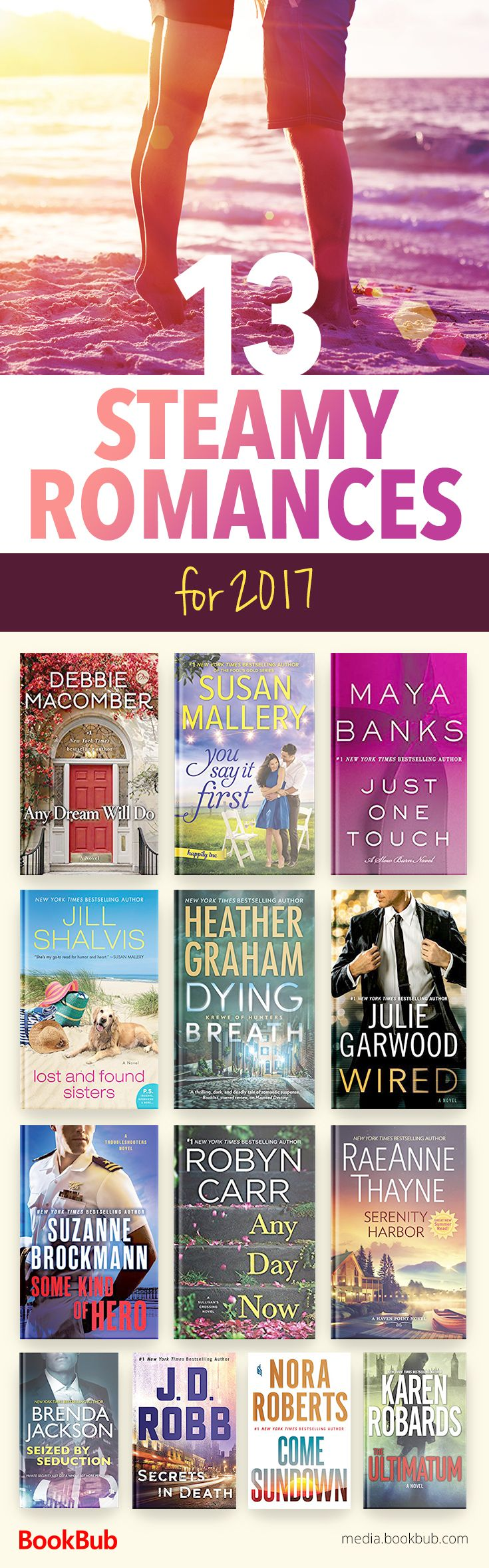 13 steamy romances worth reading. These hot romance books would make great additions to your 2017 reading list!