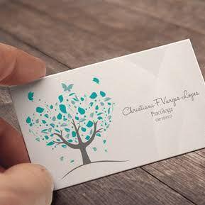 Resultado de imagem para cartão de visitas - psicólogo
