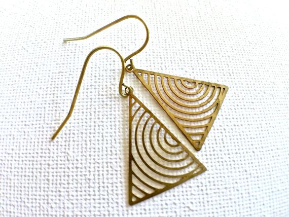 Geometric Industrial Earrings // Triangle by PERCIVALandHUDSON