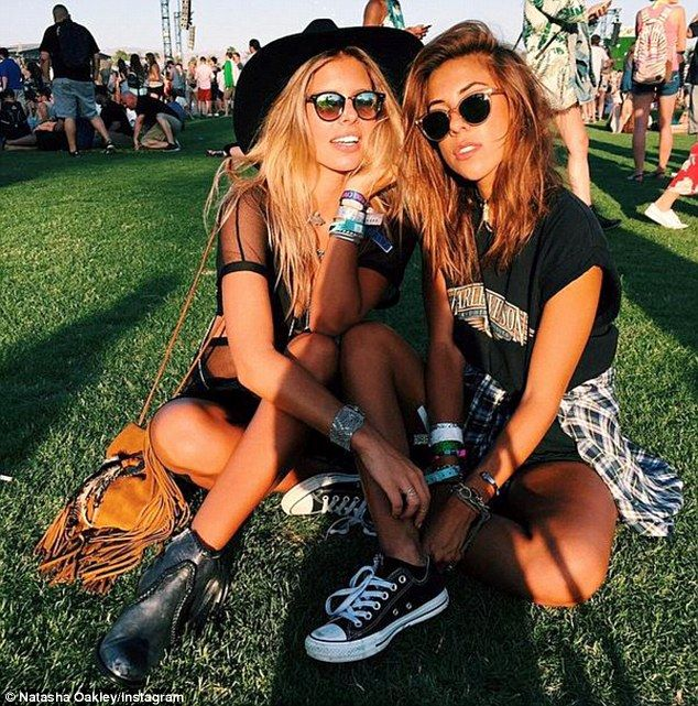Time out: The girls looked super cool as they basked under the hot desert sun on Saturday
