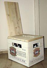 237grad Bierkasten Design Stuhl mit Lehne ''Skål A.'. Sitz Hocker Bierkiste Holz