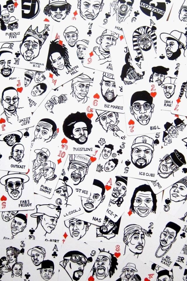 Hip Hop Playing Cards by Sayori Wada at Mynority Classics @ http://www.mynorityclassics.com/collections/frontpage/products/hip-hop-playing-cards