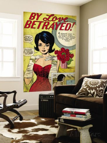 Marvel Comics Retro: By Love Betrayed Comic Panel, Evening Gown and Gloves, with Roses (aged) Wall Mural at AllPosters.com