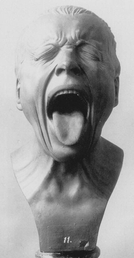 "Franz Xaver Messerschmidt (February 6, 1736 – August 19, 1783) was a German-Austrian sculptor most famous for his ""character heads"", a collection of busts with faces contorted in extreme facial expressions."