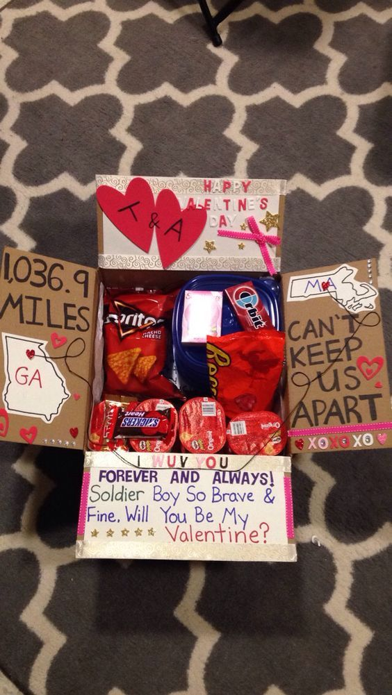 Valentines Care Package | DIY Valentines Day Gift Ideas for Him