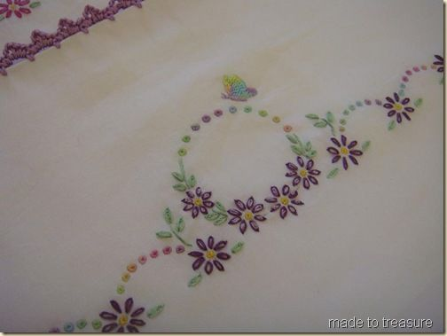Embroidery designs hand stitch also did a simple crochet