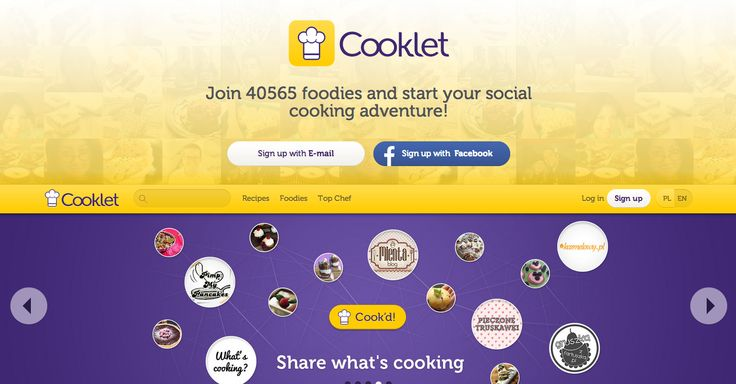 Cooklet combines the joys of cooking with the benefits of modern day social media. Learn new recipes and cooking techniques from each other.