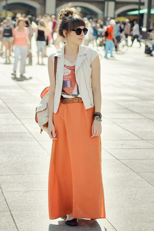 Maddinka - Sunshine in Berlin, long skirt by La Redoute