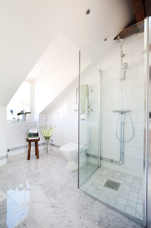 annat golv i duschen