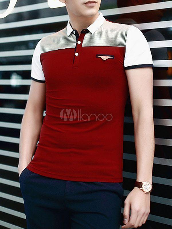 Camisa Polo elegante camisa los hombres con falso bolsillo