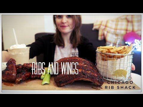 BBQ RIBS + WINGS + CHOCOLATE/PEANUTBUTTER MILKSHAKE!| chicago rib shack|...