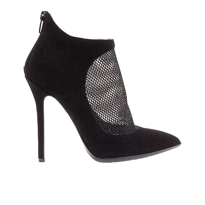 120412-BLACK MESH #mourtzi #ankleboots #suede #mesh #formal www.mourtzi.com
