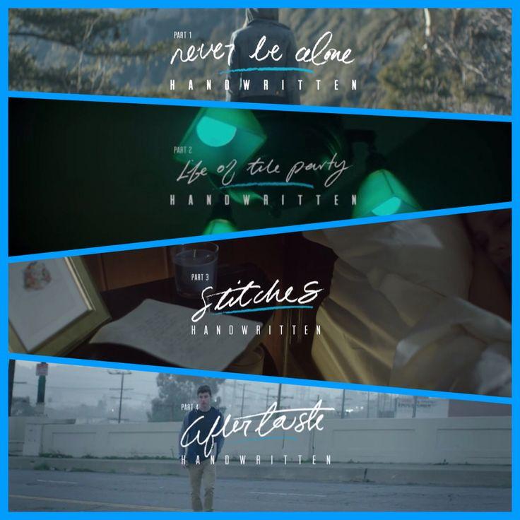 Shawn mendes-handwritten edit 1-4 videos. By: @A&E Madrid