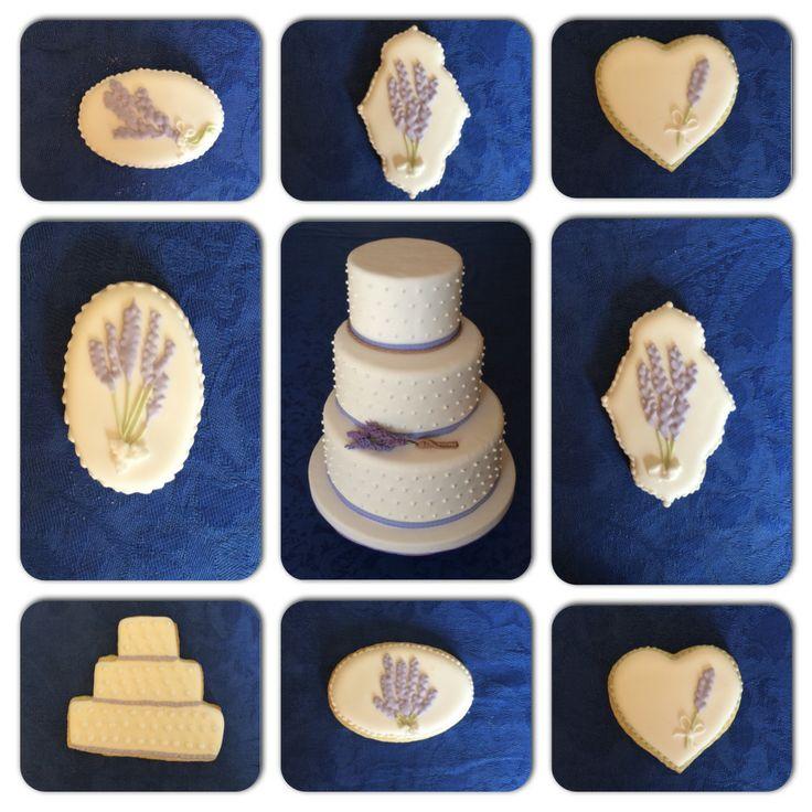 #cakedesign #lavander #royalicing #weddingcake #cookies #biscotti #ghiacciareale