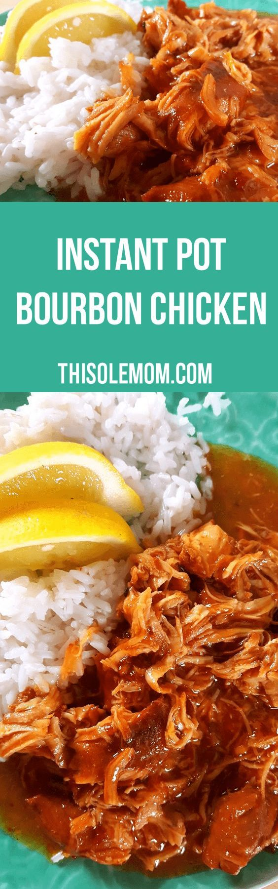Instant Pot Bourbon Chicken Recipe..it's a family favorite! Easy to make and it cooks to super perfection!