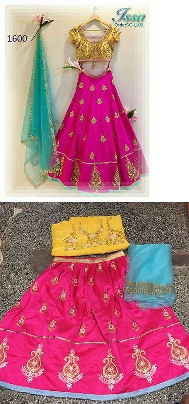 Choli 155247: Designer Pakistani Embroidered Lehenga Indian Wedding Bangalor Silk Ghagra Choli -> BUY IT NOW ONLY: $47 on eBay!