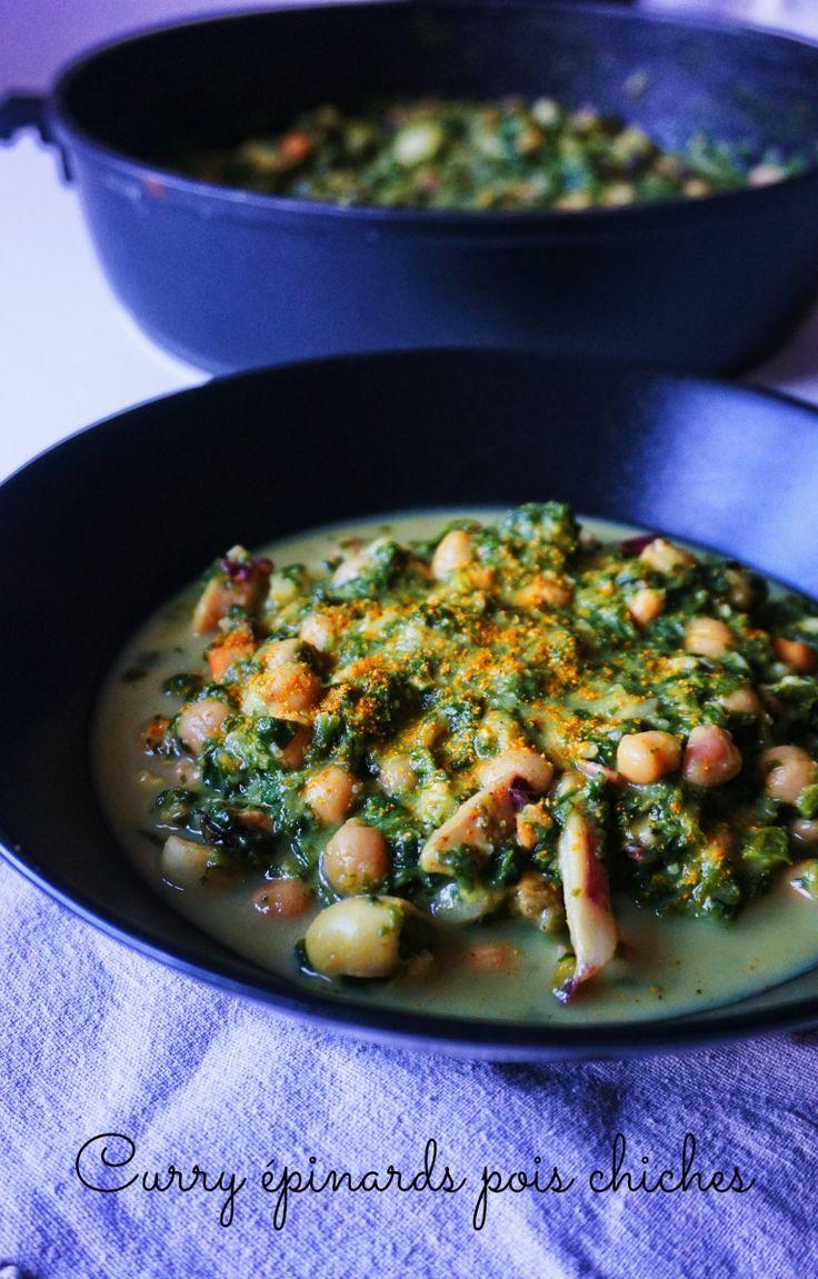 Envie d'un plat réconfortant, mais sain et IG bas? Testez ce curry épinards pois chiches et fruits de mer, un vrai régal!