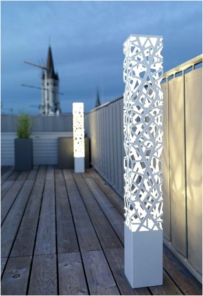 lampadaire cuivre exterieur terrasse