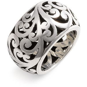 Lois Hill 'Cage' Cigar Band Ring Sterling Silver 7