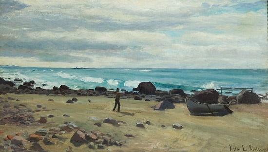 Kitty Kielland (1843-1914): Kystlandskap, Jæren 1883