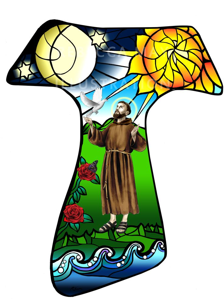 Tau design commissioned for a Franciscan Society.