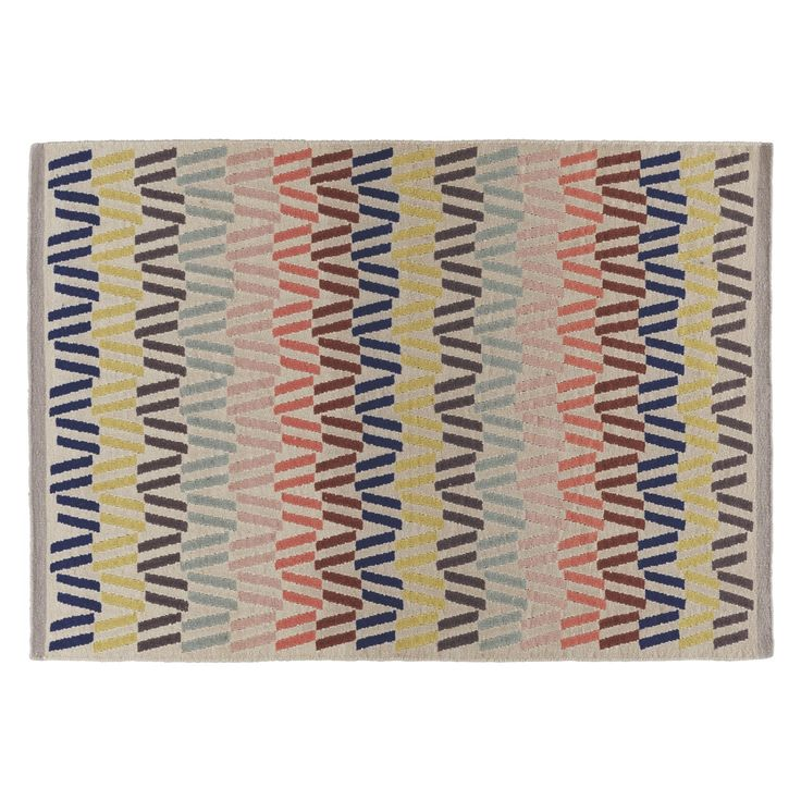 FYFE Medium multi-coloured wool rug 140 x 200cm | Buy now at Habitat UK