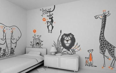 Bekijk de foto van Mara met als titel Vrolijk de kinderkamer op met dierenstickers.   en andere inspirerende plaatjes op Welke.nl.